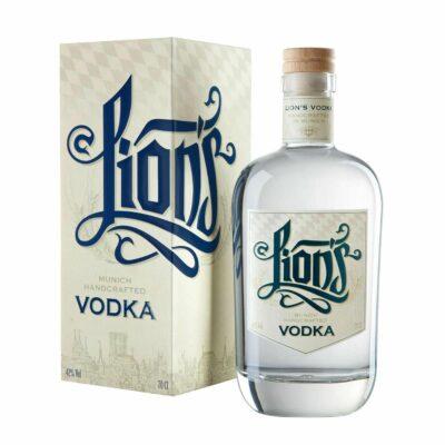 LION's Munich Handcrafted Vodka_Flasche_Geschenkverpackung