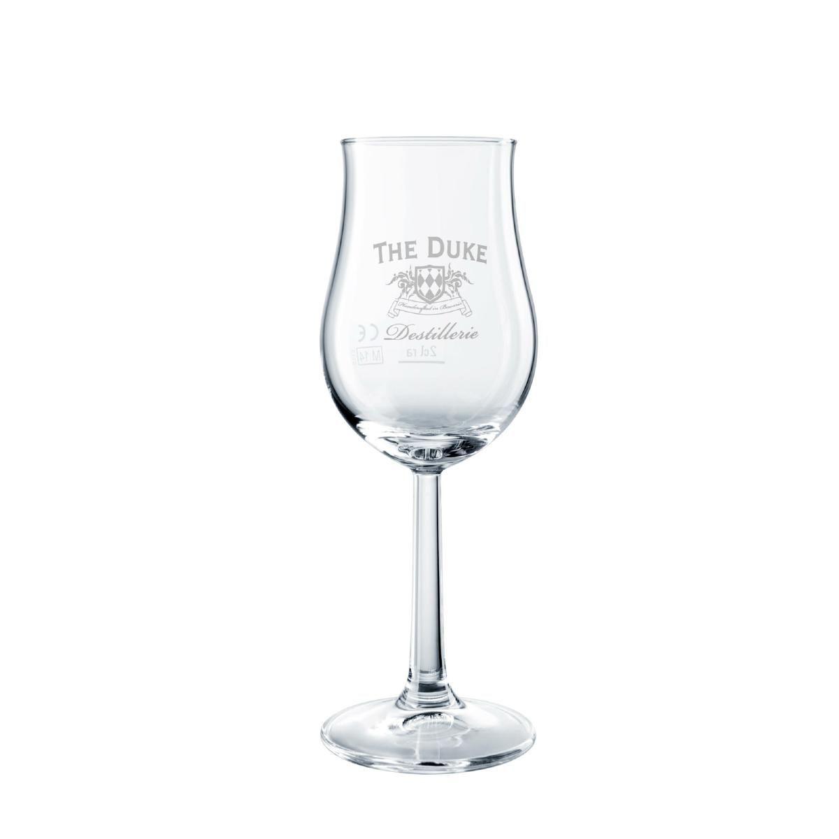 Nosing Glas mit DUKE Gin Logo