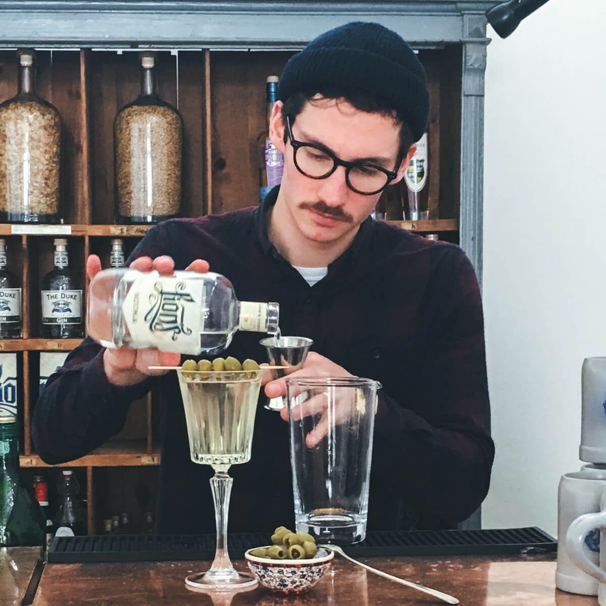 LION's Vodka Dirty Martini