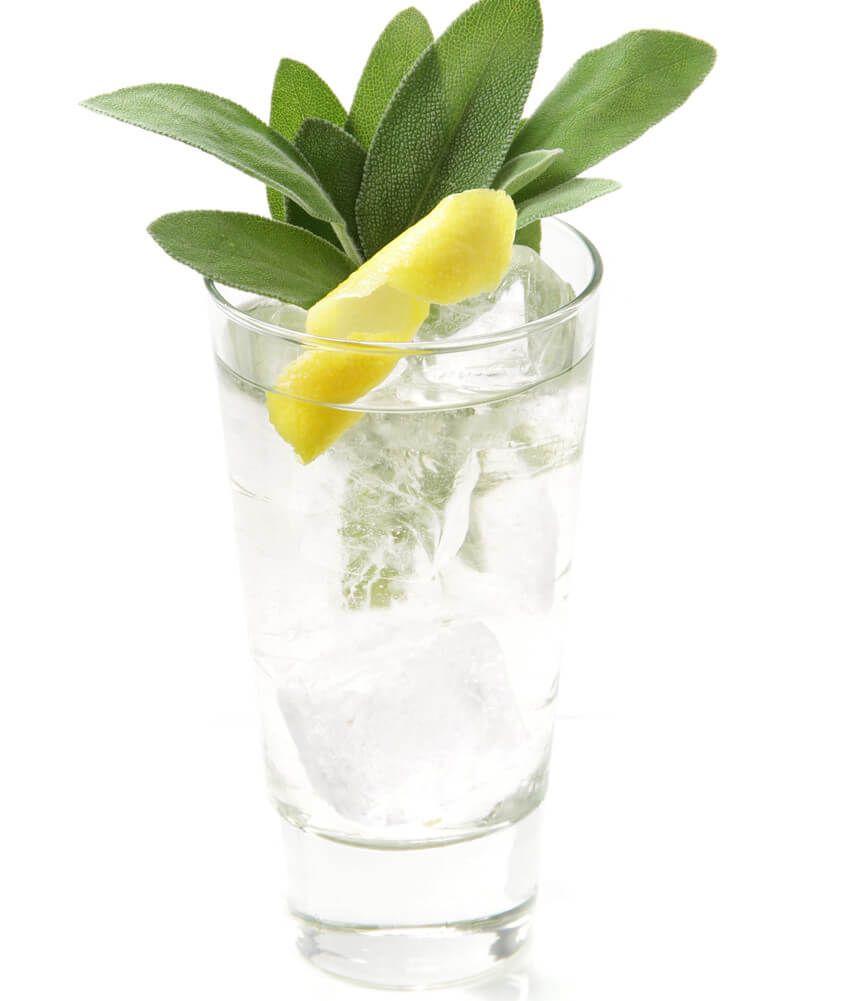 Gin Tonic mit Salbei und Zitrone