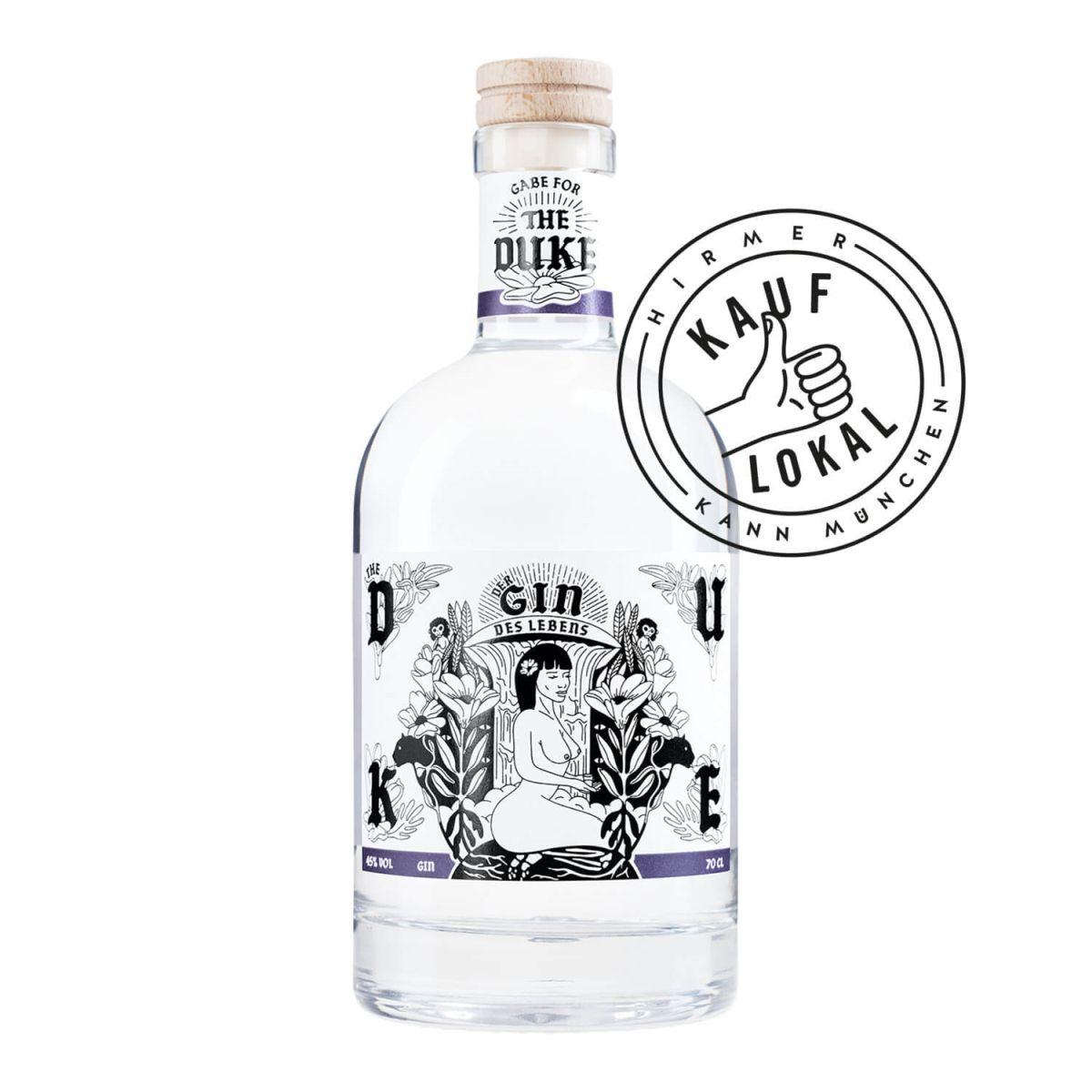 THE DUKE Gin Kunstedition Frau bei Hirmer Kauf Lokal