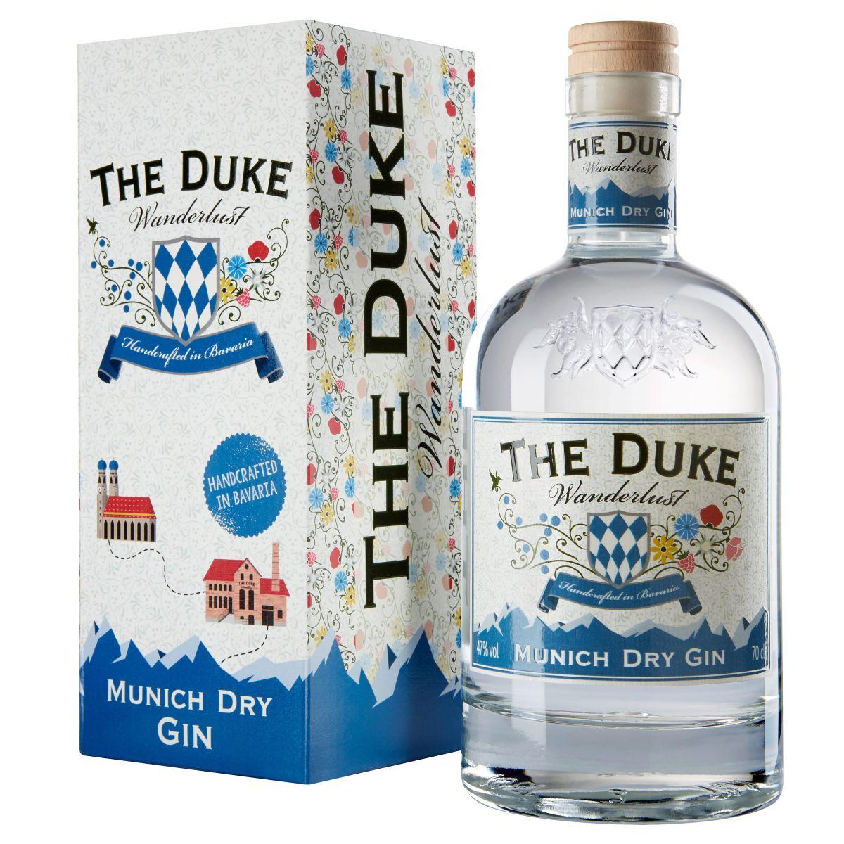 THE DUKE Wanderlust Gin 0,7l mit Geschenkkarton Freisteller