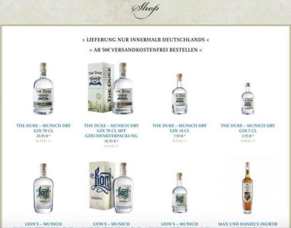 Gin online kaufen_Shop