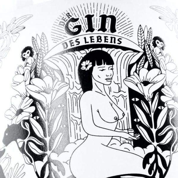 THE DUKE Gin_Kunstedition_GindesLebens_Frau_Frontetikett