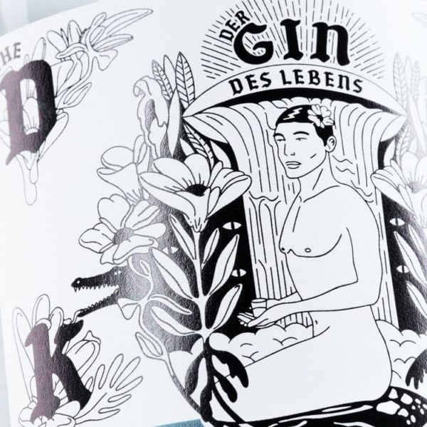 THE DUKE Gin_Kunstedition_GindesLebens_Mann_Frontetikett