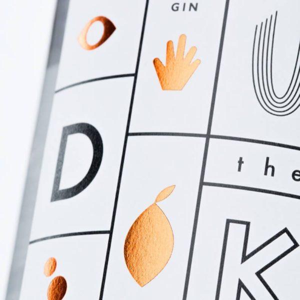 THE DUKE Gin_Kunstedition_Kupfer_white_Frontetikett