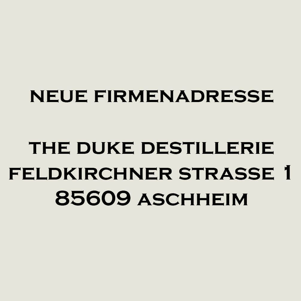 THE DUKE Destillerie Firmenadresse in Aschheim