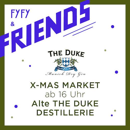 Weihnachtsmarkt mit Gin in der Destillerie