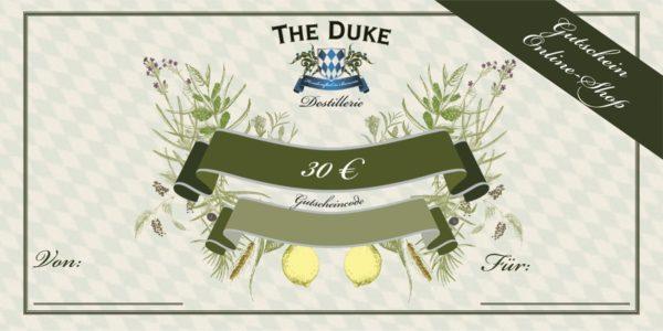 Gutschein über 30€ für den THE DUKE Online Shop