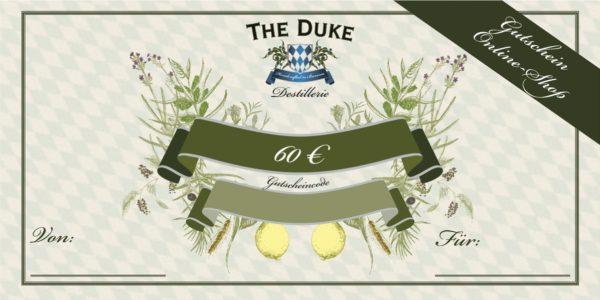 Gutschein über 60€ für den THE DUKE Online Shop