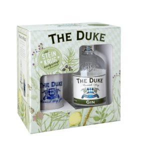 Geschenkbox mit THE DUKE Munich Dry Gin und handgemachtem Steinkrug