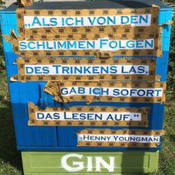 Stencil Gin Spruch