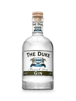 THE DUKE Munich Dry Gin Flasche Spiegelung