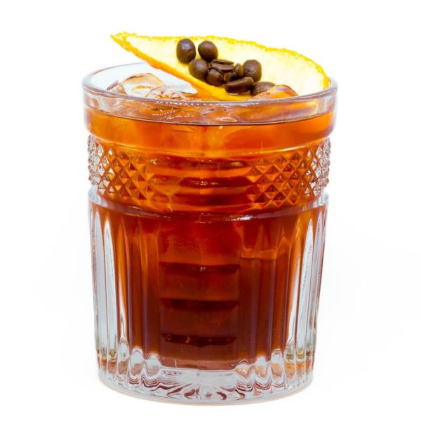"""Cold Brew Negroni"" mit THE DUKE Munich Dry Gin und noar Cold Brew Coffee Freisteller"