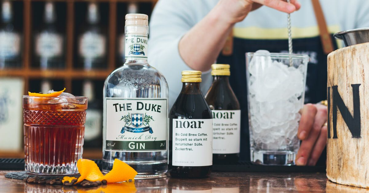 "THE DUKE ""Cold Brew Negroni"" mit noar Cold Brew Coffee"
