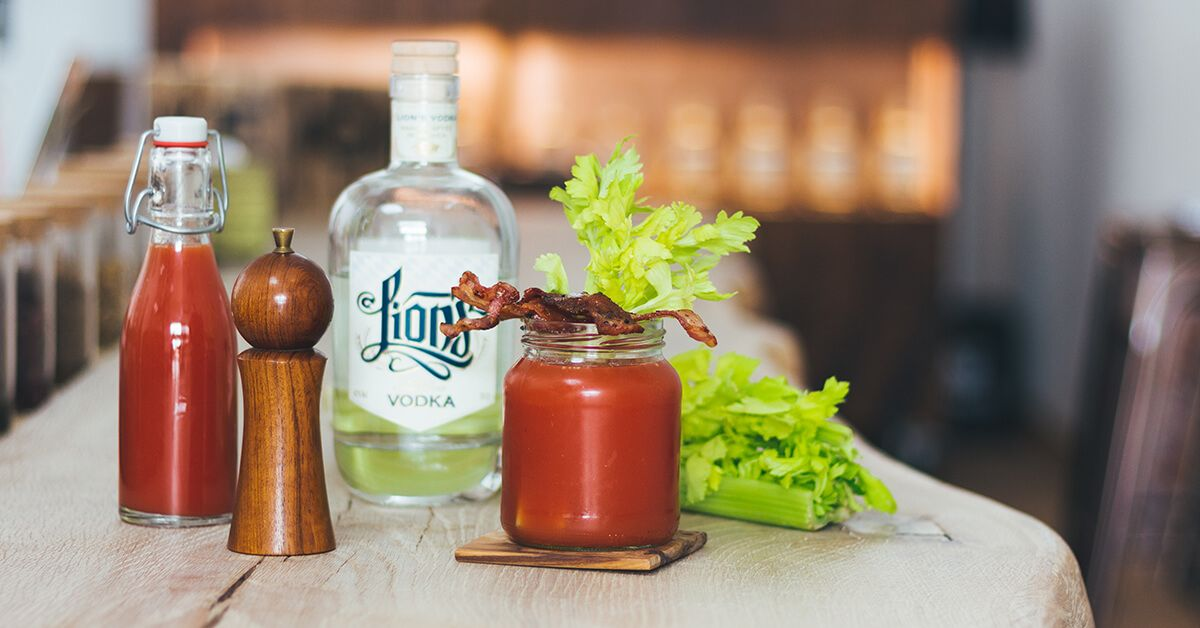 "LION's Vodka ""Mary and the Bacon"" Bloody Mary"