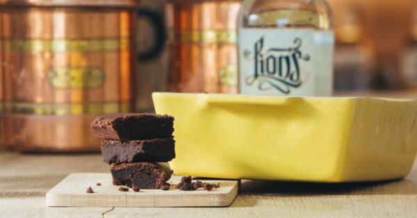 LION's Vodka Rezept Drunken Brownies Header