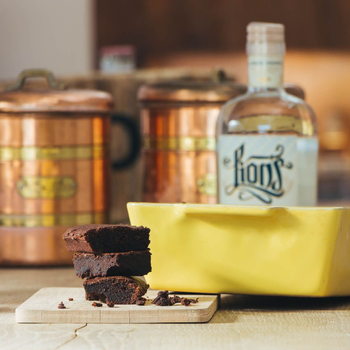 LION's Vodka Drunken Brownies