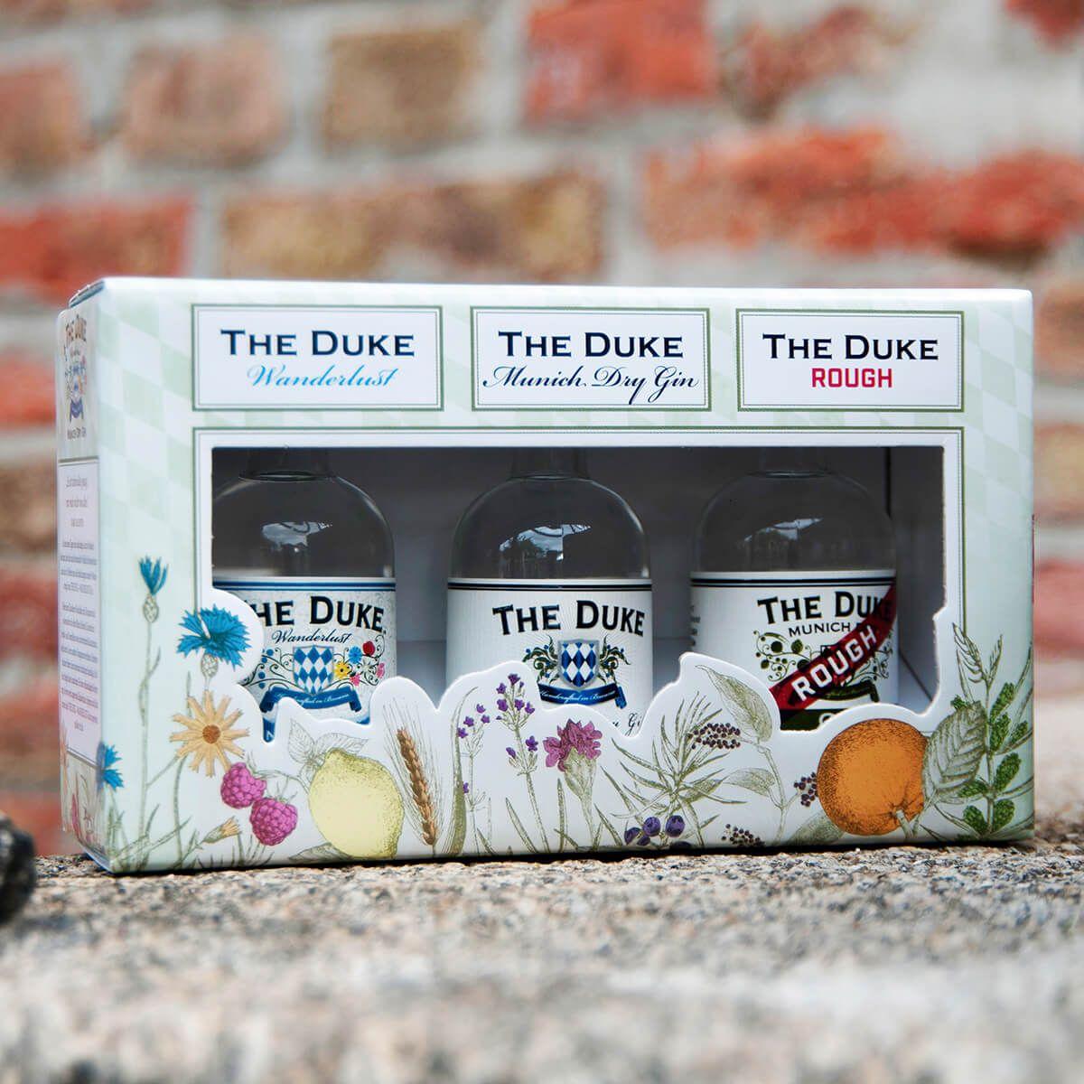 THE DUKE Gin Miniaturset 3x 0,05l in Geschenkverpackung