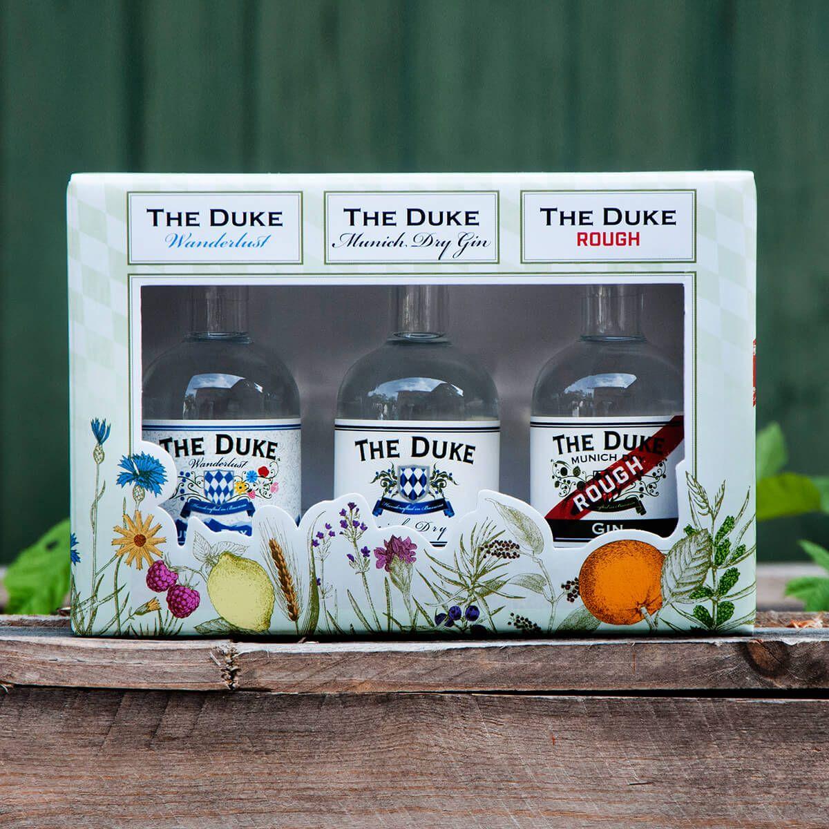 THE DUKE Gin Miniaturset 3x 0,1l in Geschenkverpackung
