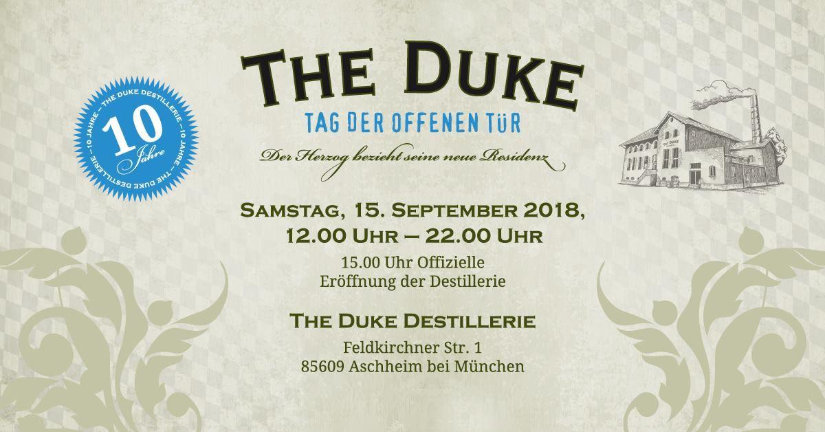 10 Jahre THE DUKE Gin - Einladung zum Tag der offenen Tür in der Destillerie