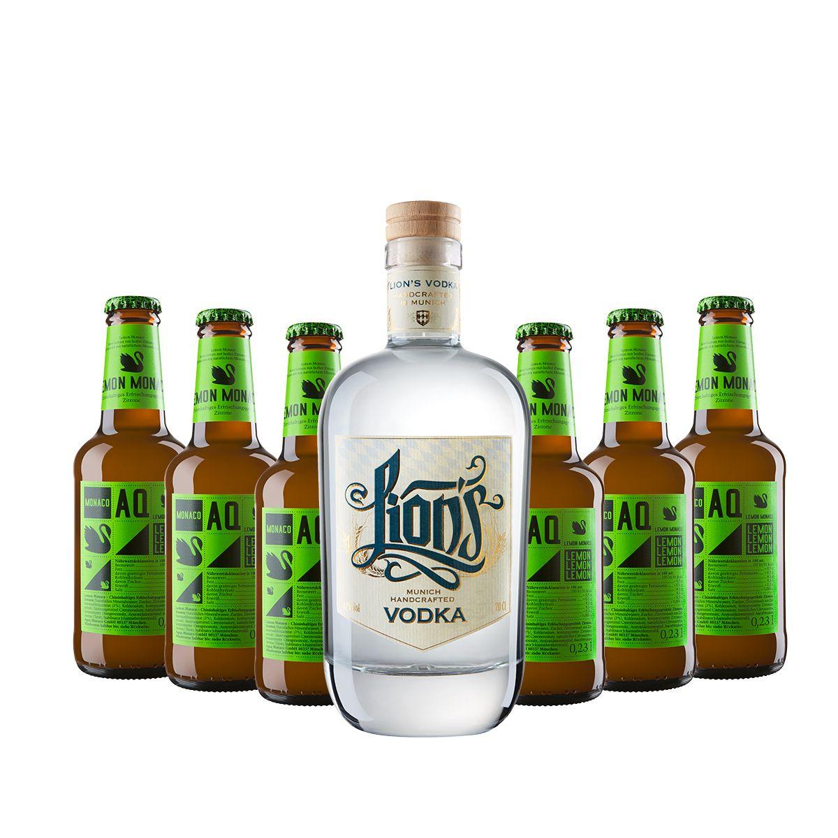 Vodka Lemon Set: LION's Vodka & Aqua Monaco Bitter Lemon