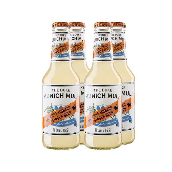 THE DUKE Munich Mule: Longdrink mit THE DUKE Munich Dry Gin und Aqua Monaco Hot Ginger Beer in Bio-Qualität