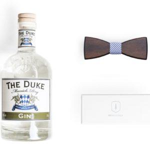 BeWooden x THE DUKE Gentlemen's Bundle: THE DUKE Munich Dry Gin und Holzfliege