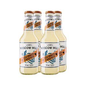 LION's Moskow Mule: Longdrink mit LION's Vodka und Aqua Monaco Hot Ginger Beer in Bio-Qualität