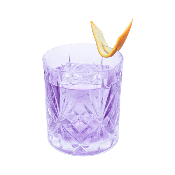 Purple Negroni mit Butterfly Infused THE DUKE Rough Gin