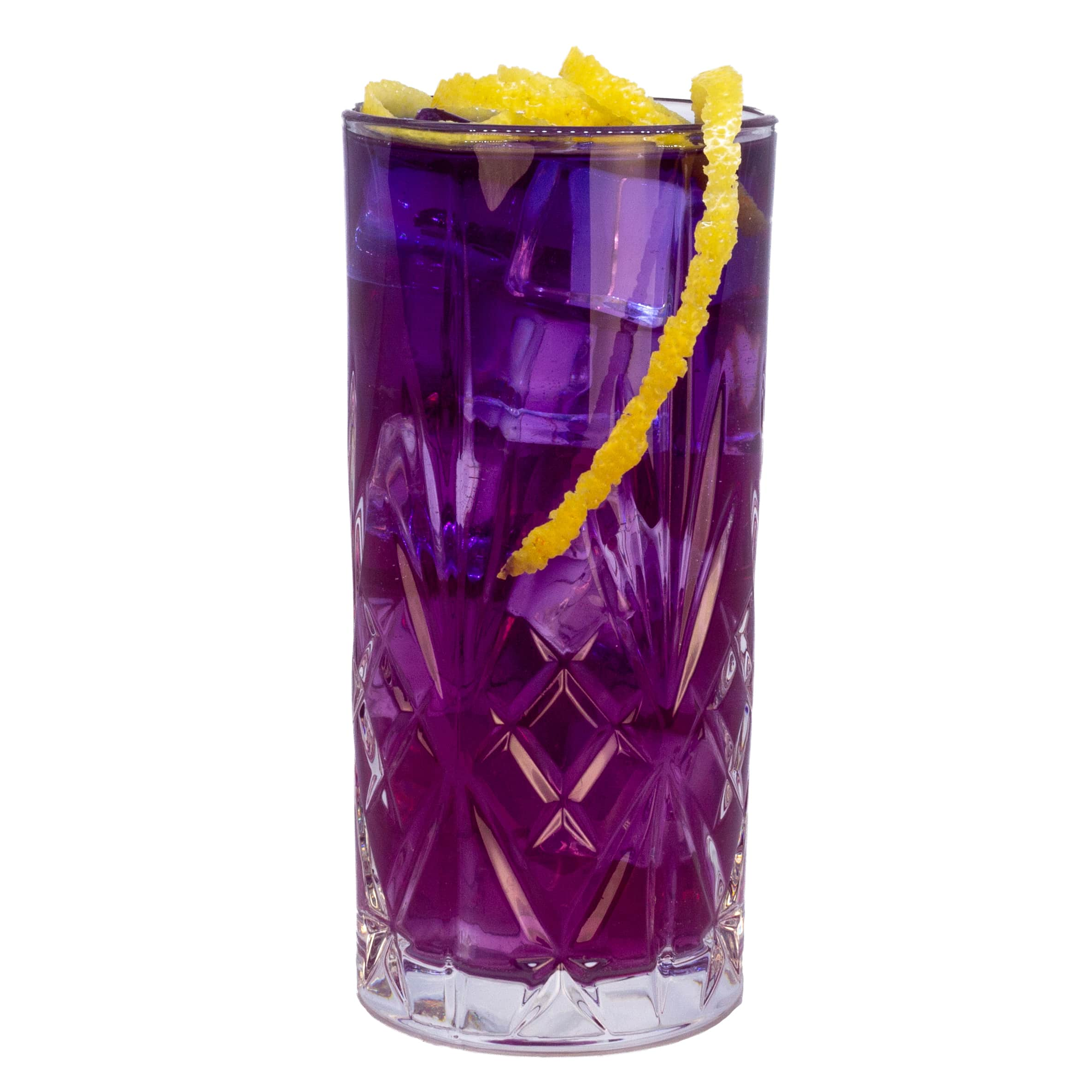 Purple Vodka Soda mit Butterfly Pea Tea Infused LION's Vodka