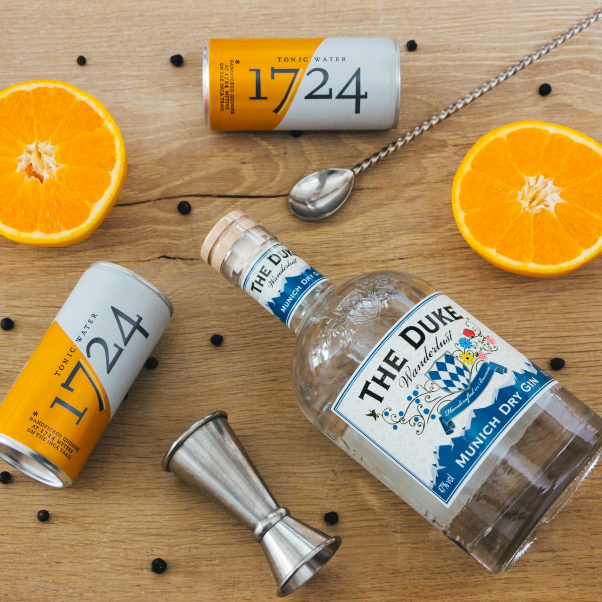 THE DUKE Wanderlust Gin mit einem klassischen Tonic Water