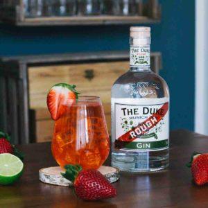 Strawberry Gin Collins - Tom Collins Variationen mit THE DUKE