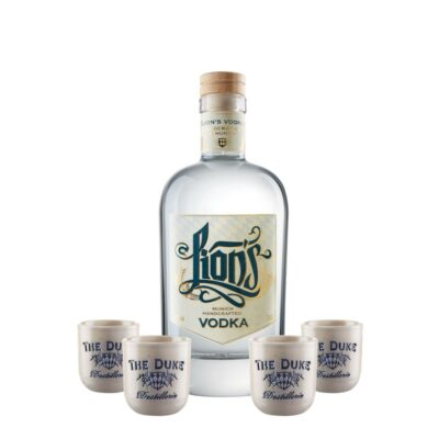 LION's Vodka THE DUKE Stamperl handgemacht Set