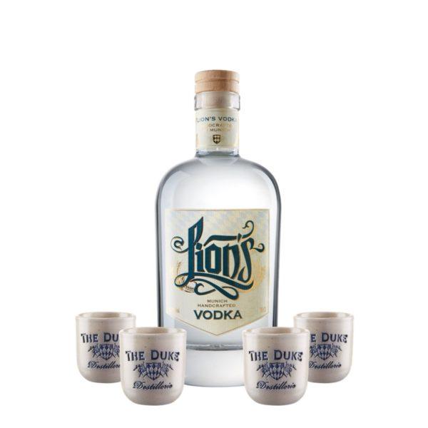 LION's Vodka THE DUKE Stamperl handgemacht Set