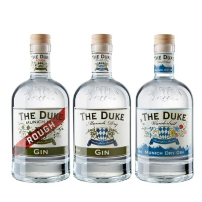 THE DUKE Munich Dry Gin Wanderlust Rough Trio 3er Set