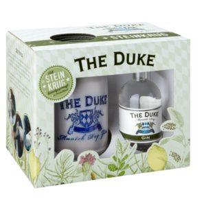 Geschenkset THE DUKE Gin Mini mit handgemachtem Steinkrug