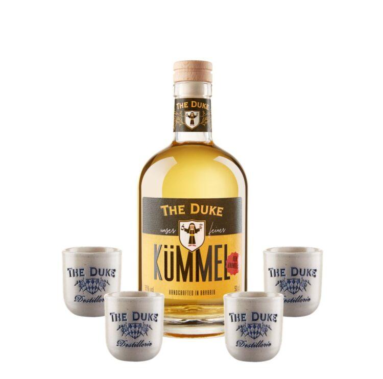 THE DUKE Kümmel - Der Grantler und vier handgemachte Stamperl