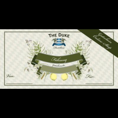 Gutschein im Wert von 30€ für eine Gin Führung in der THE DUKE Destillerie