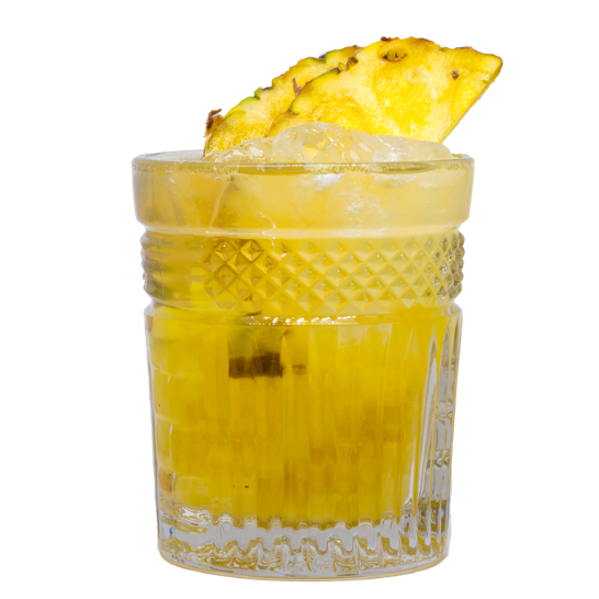 Cocktail spicy pineapple drink