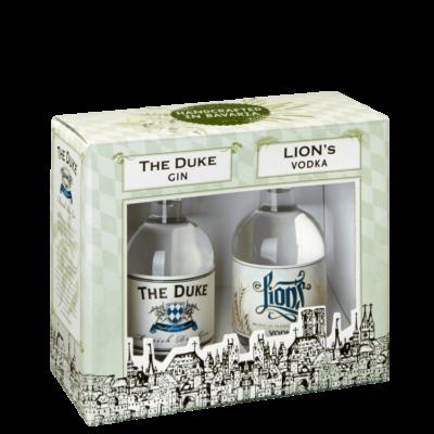 Geschenkset mit THE DUKE Munich Dry Gin und LIONs Munich Handcrafted Vodka