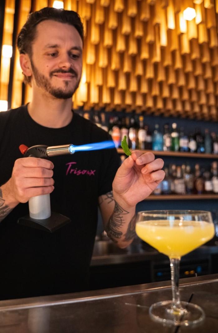 Trisoux Bar mit THE DUKE Destillerie