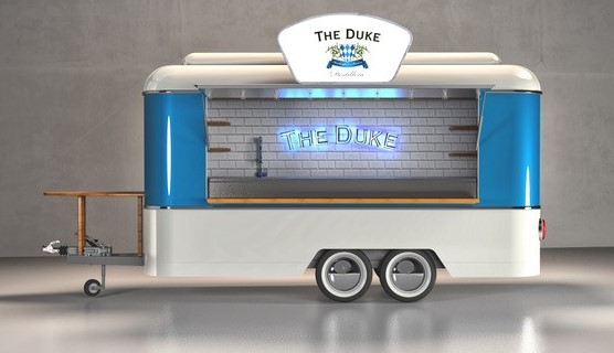 Design-Entwurf THE DUKE Bartrailer