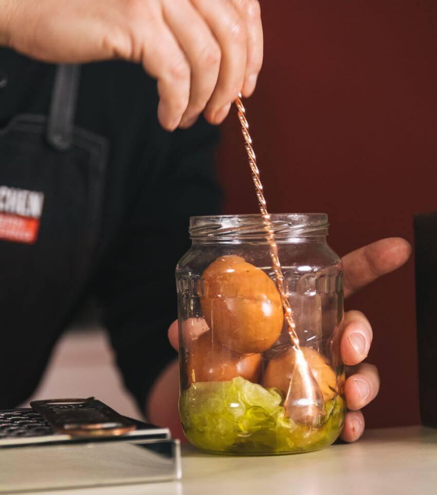 Trüffel Eier an der Bar der Barschule München