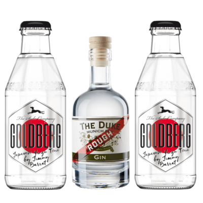 Mini Gin & Tonic Set mit THE DUKE Rough Gin und Goldberg Japanese Yuzu Tonic