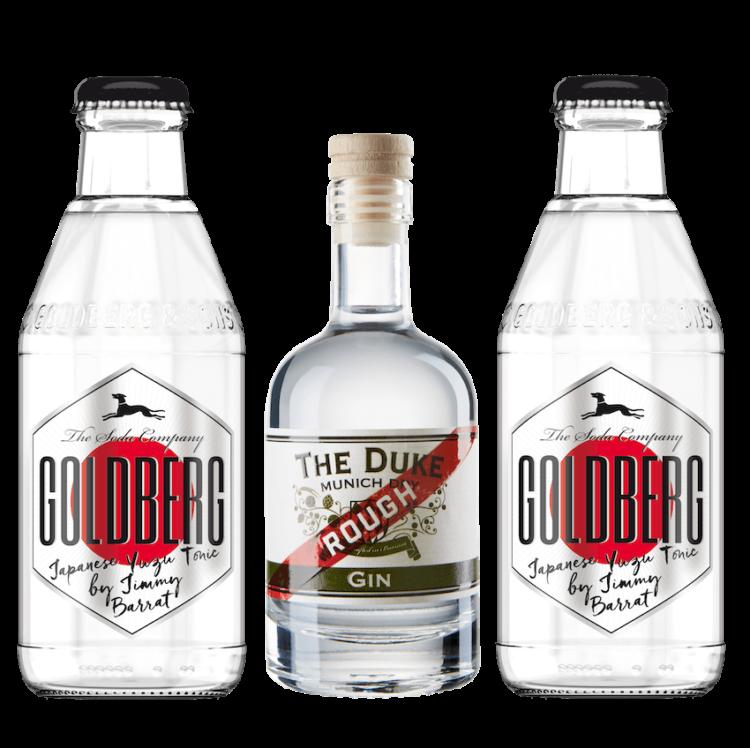 Mini Gin & Tonic Set mit THE DUKE Rough Gin und Goldberg Japanese Yuzu Tonic