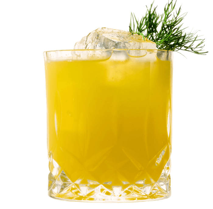 Cocktail mit THE DUKE Kümmel und Mandarinen Saft