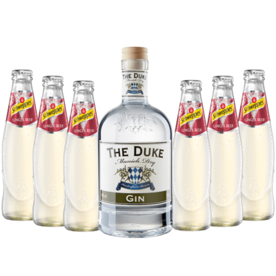 Munich Mule Set mit THE DUKE Munich Dry Gin und Schweppes Ginger Beer