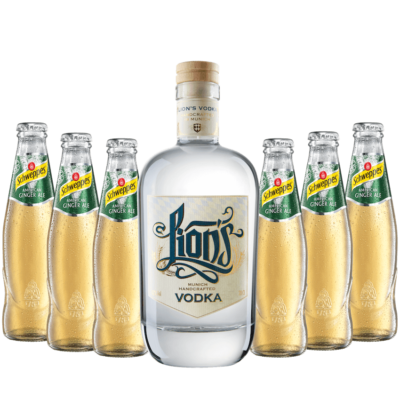 Vodka Ginger Ale Set mit LION's Vodka und Schweppes Ginger Ale