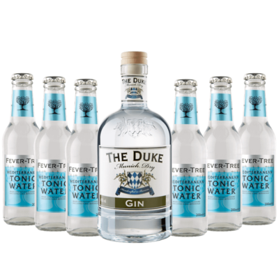 Gin & Tonic Set mit THE DUKE Gin und 6 Flaschen Fever-Tree Mediterranean Tonic